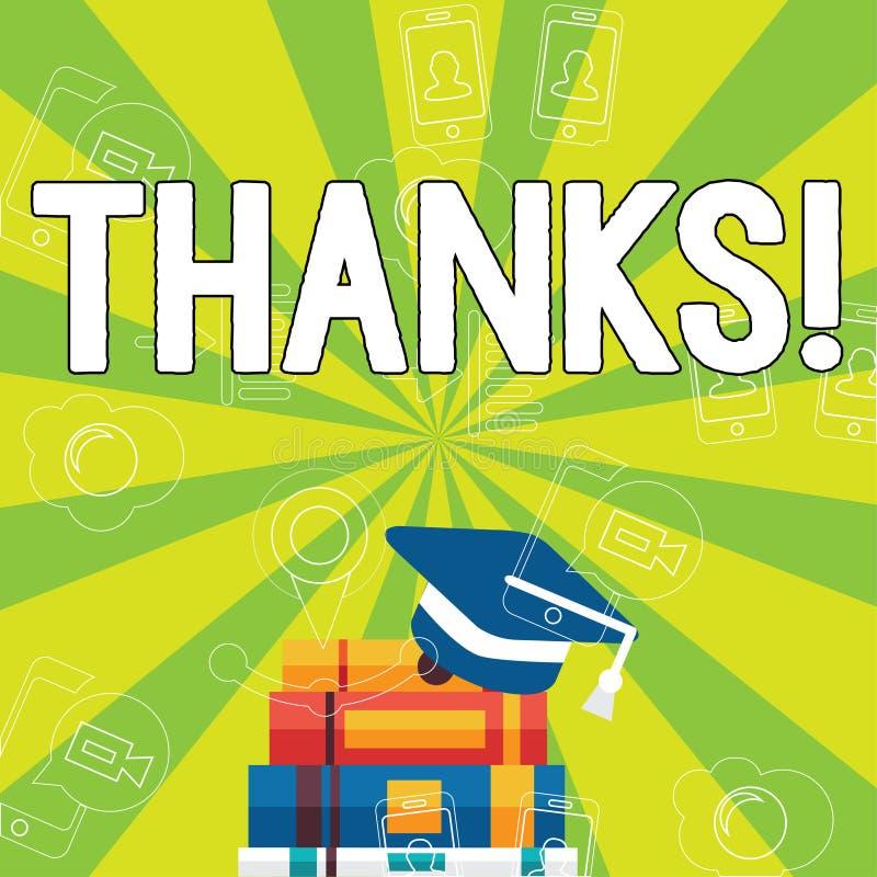 Skriva anmärkningen som visar tack Affärsfoto som ställer ut tacksamhet för gillandehälsningbekräftelse vektor illustrationer
