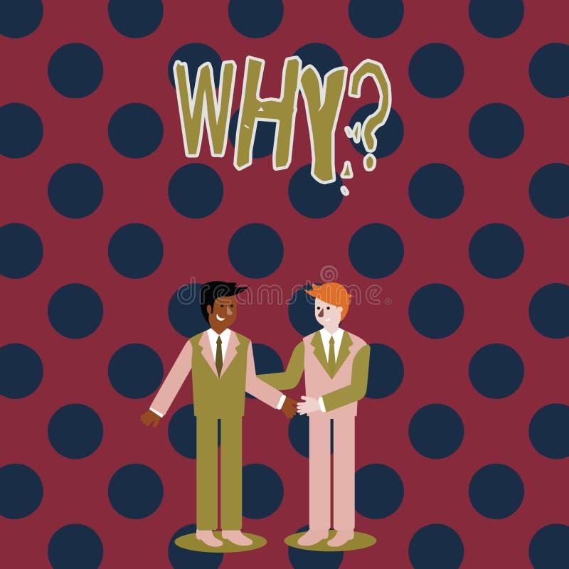 Skriva anmärkningen som visar Whyquestion Affärsfotoet som ställer ut att fråga för specifika svar av något, förhör frågar royaltyfri illustrationer