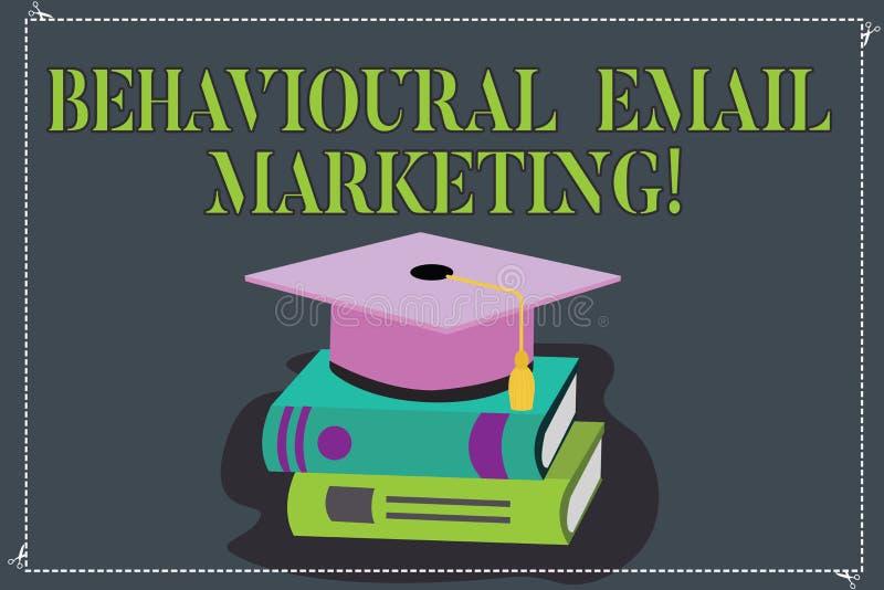 Skriva anmärkningsvisning beteende- Emailmarknadsföring Affärsfoto som ställer ut customercentric avtryckaregrundmessaging vektor illustrationer