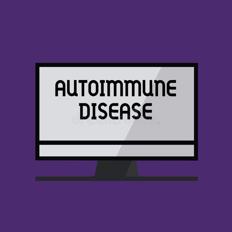 Skriva anmärkningsvisning den Autoimmune sjukdomen Affärsfoto som ställer ut ovanliga antikropper som uppsätta som mål deras egna vektor illustrationer