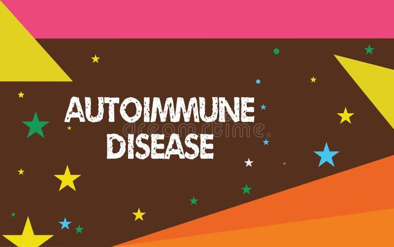 Skriva anmärkningsvisning den Autoimmune sjukdomen Affärsfoto som ställer ut ovanliga antikropper som uppsätta som mål deras egna stock illustrationer