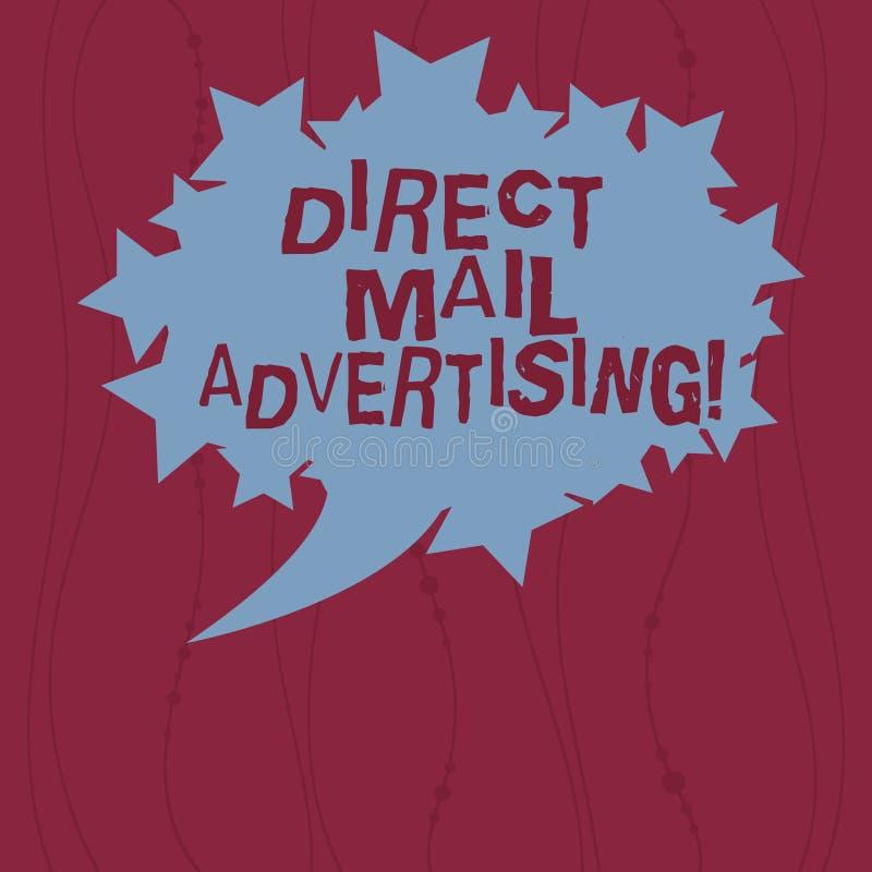 Skriva anmärkningsvisning direkt post som annonserar Att ställa ut för affärsfoto levererar marknadsföringsmaterial till klienten vektor illustrationer