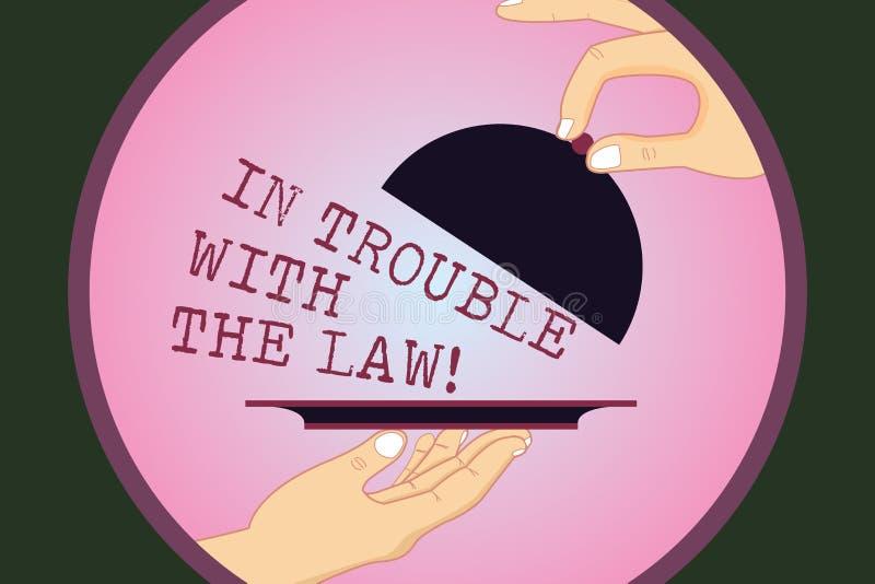Skriva anmärkningsvisning i problem med lagen Affärsfoto som ställer ut rättvisa för brottsliga handlingar för lagliga problem br vektor illustrationer