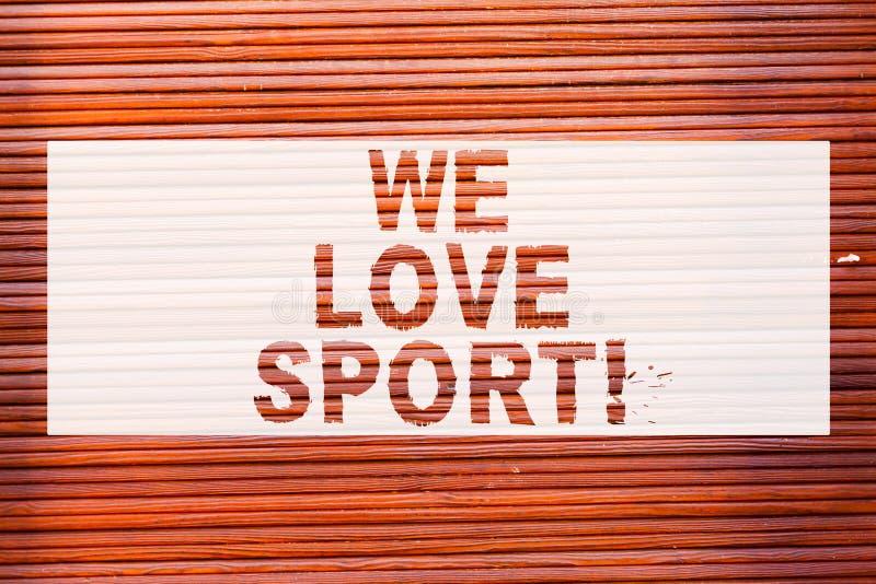 Skriva anmärkningsvisning oss förälskelsesport Affärsfoto som ställer ut för att gilla övning mycket idrotts- aktivitetsarbete fö royaltyfri illustrationer