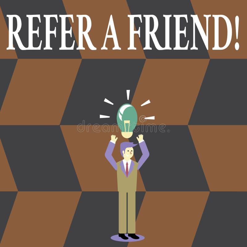 Skriva anmärkningsvisning se en vän Att ställa ut för affärsfoto riktar någon till andra eller att överföra honom något som gåvan vektor illustrationer