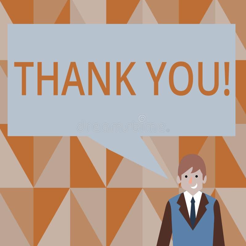 Skriva anmärkningsvisning tacka dig Affärsfoto som ställer ut tacksamhet för gillandehälsningbekräftelse vektor illustrationer