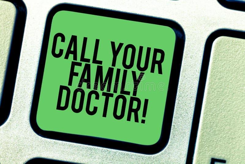 Skriva anmärkningsvisningappell din familjdoktor Affärsfoto som ställer ut att fråga för den krävda läkaren för medicinsk rådgivn royaltyfria foton