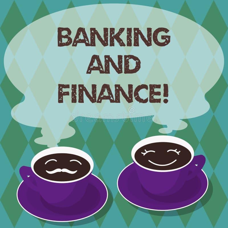 Skriva anmärkningsvisningbankrörelsen och finans Affärsfoto som ställer ut institutioner som ger variation av finansiellt vektor illustrationer