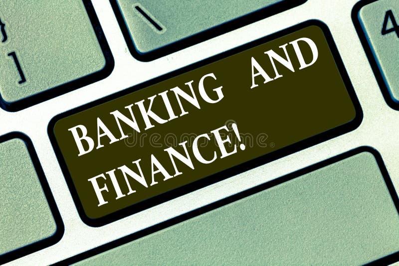 Skriva anmärkningsvisningbankrörelsen och finans Affärsfoto som ställer ut institutioner som ger variation av finansiellt royaltyfri illustrationer