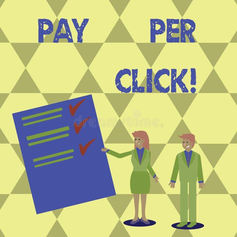 Skriva anmärkningsvisninglön per klick Att ställa ut för affärsfoto får pengar från besökareannonser som annonserar SEO Marketing vektor illustrationer
