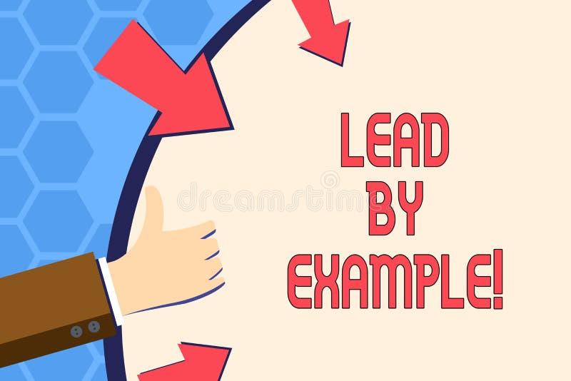 Skriva anmärkningsvisningledning vid exempel Affärsfoto som ställer ut organisation för ledarskapledningmentor vektor illustrationer