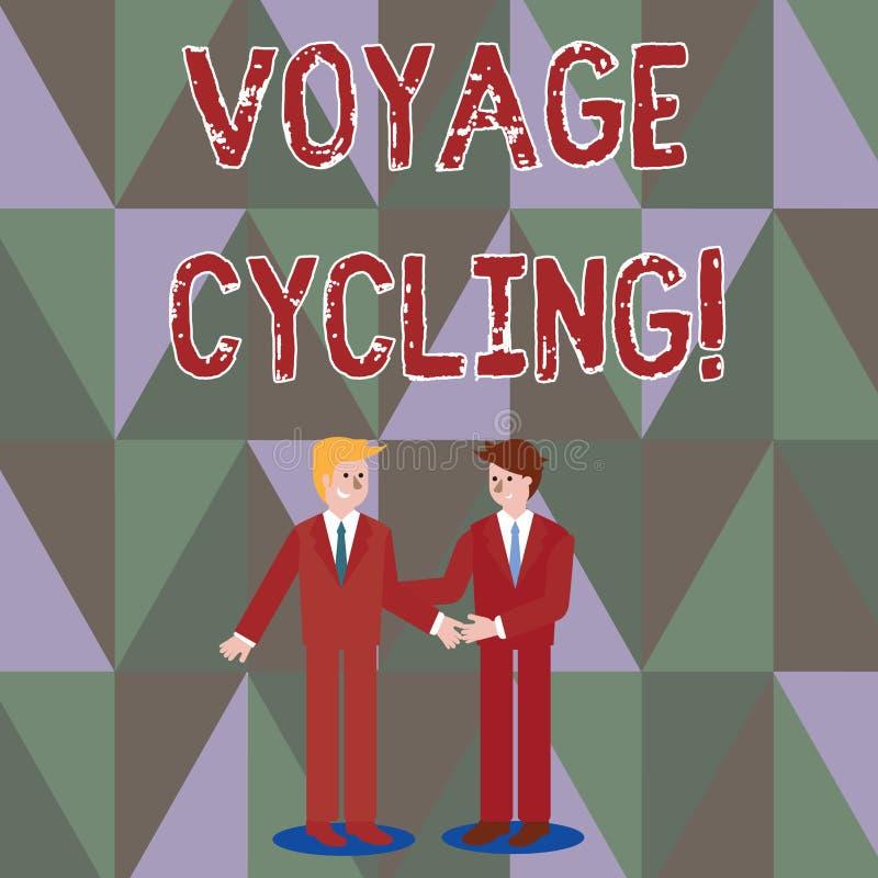 Skriva att cykla f?r anm?rkningsvisningresa Aff?rsfoto som st?ller ut bruk av cyklar f?r transportrekreation och ?vning stock illustrationer