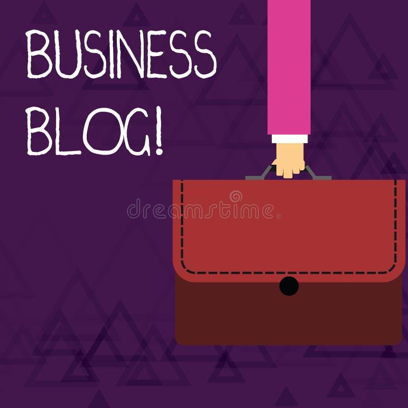 Skriva bloggen för anmärkningsvisningaffär Ställa ut för affärsfoto som ägnas för att skriva om ämnesfrågan släkt royaltyfri illustrationer