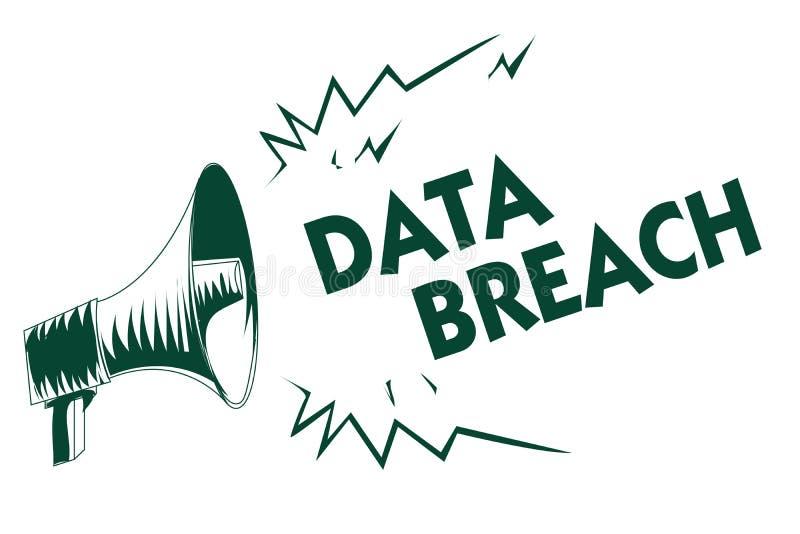 Skriva brytningen för anmärkningsvisningdata Affärsfoto som ställer ut säkerhetshändelse var känslig skyddad information kopierad vektor illustrationer