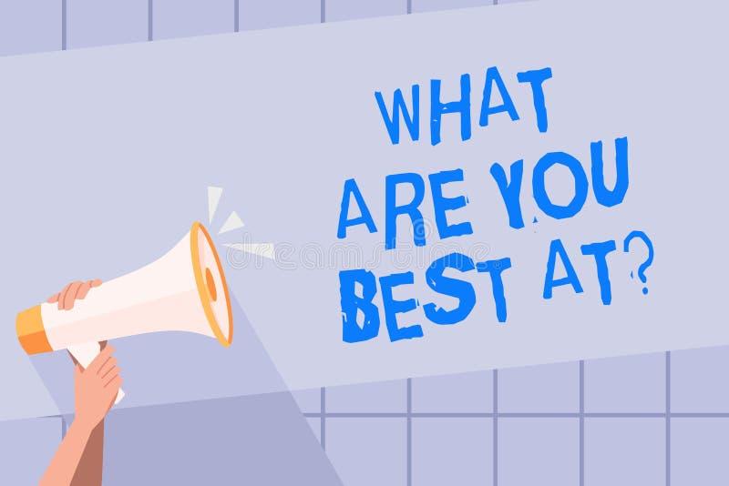 Skriva för handskrifttext vad är dig bästa Atquestion Är individuell kreativitet för begreppsbetydelse en unik kapacitet royaltyfri illustrationer