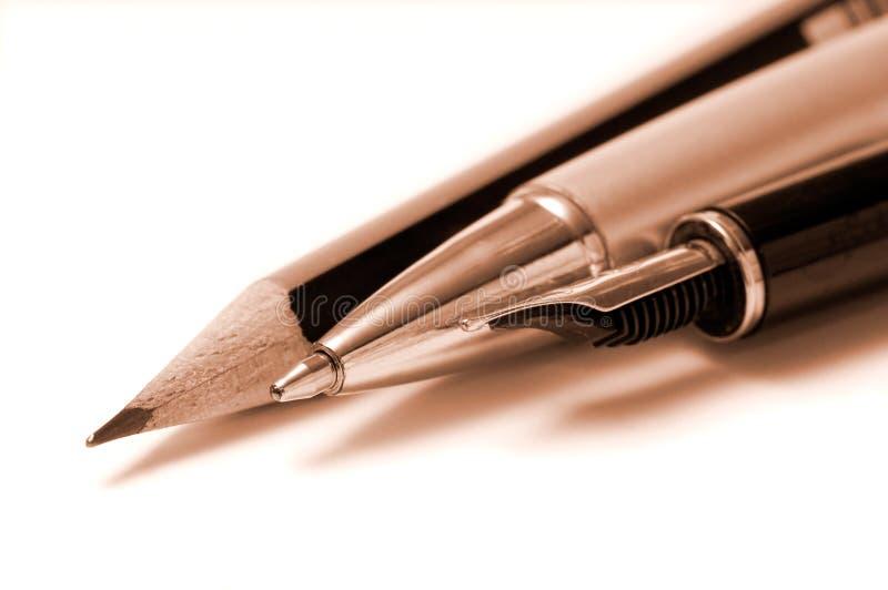 skriva för hjälpmedel royaltyfria bilder