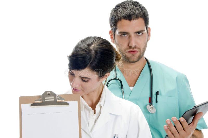 skriva för professionell för bräde medicinskt paper arkivfoton