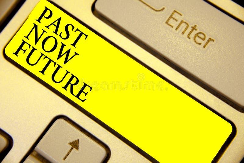 Skriva framtid för anmärkningsvisningforntid nu Affärsfoto som ställer ut handlingDestiny Memories Keyboard för sista gången närv vektor illustrationer