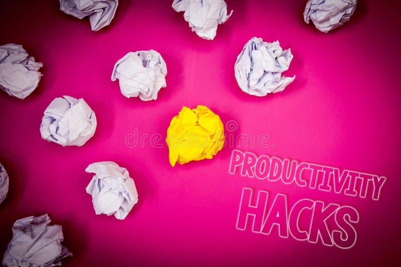 Skriva hackor för anmärkningsvisningproduktivitet Affärsfotoet som ställer ut dataintrånglösningsmetod, tippar grou för effektivi arkivbild