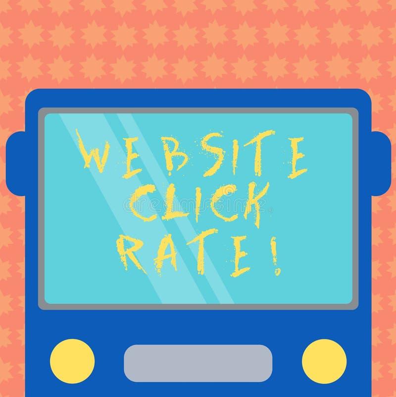 Skriva hastighet för klick för anmärkningsvisningWebsite Affärsfoto som ställer ut förhållandeanvändare som klickar specifik samm royaltyfri illustrationer