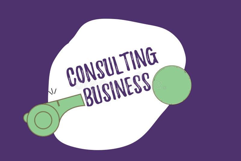 Skriva konsulterande affär för anmärkningsvisning Affärsfotoet som ställer ut experter för konsulteringfirma, ger yrkesmässig råd vektor illustrationer
