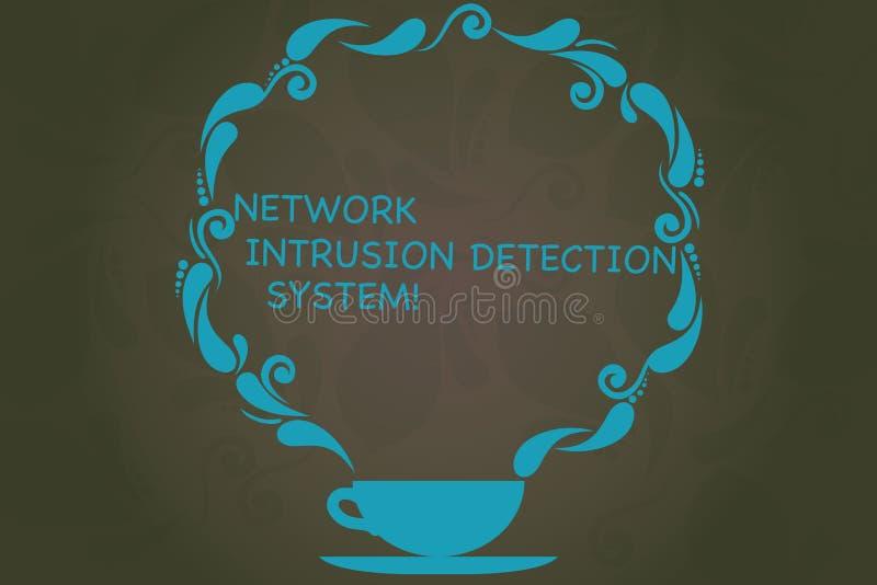 Skriva systemet för upptäckt för inhopp för anmärkningsvisningnätverk Affärsfoto som ställer ut system för säkerhetssäkerhetsmult stock illustrationer