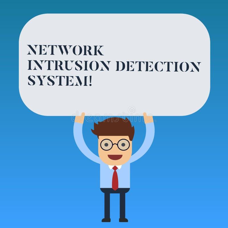 Skriva systemet för upptäckt för inhopp för anmärkningsvisningnätverk Affärsfoto som ställer ut system för säkerhetssäkerhetsmult royaltyfri illustrationer