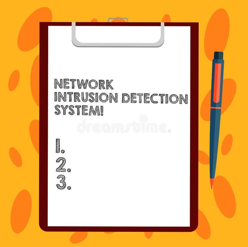 Skriva systemet för upptäckt för inhopp för anmärkningsvisningnätverk Affärsfoto som ställer ut system för säkerhetssäkerhetsmult vektor illustrationer