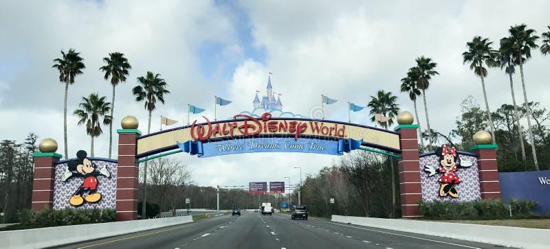 Skrivande in Walt Disney World royaltyfria foton