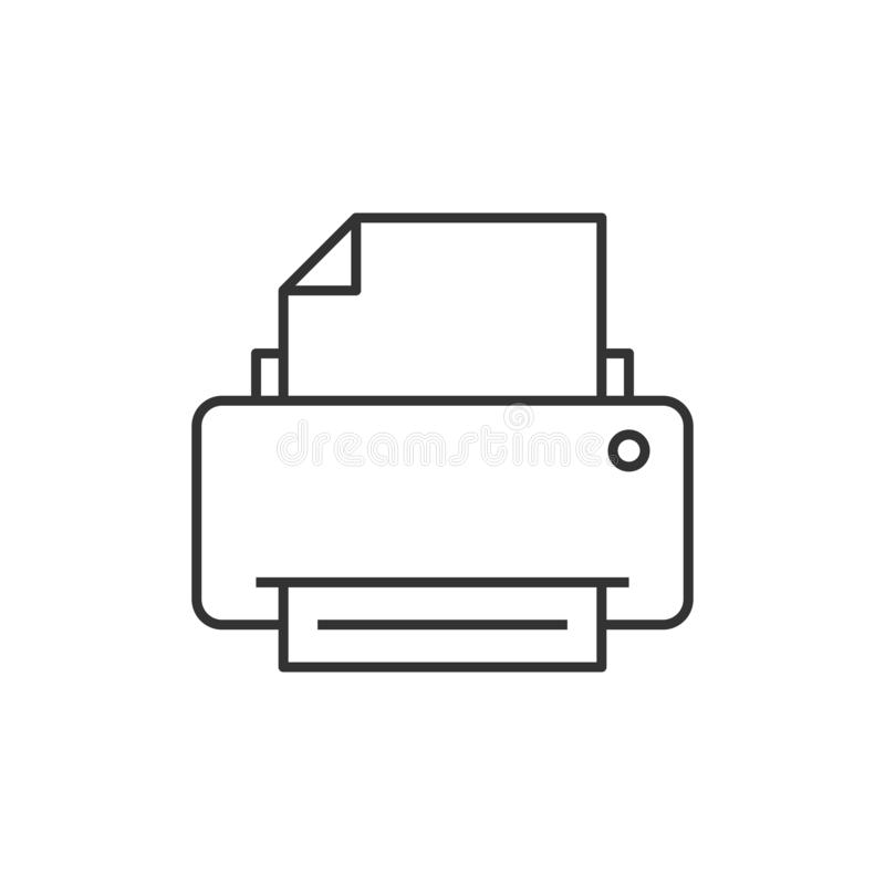 Skrivaröversiktssymbol stock illustrationer