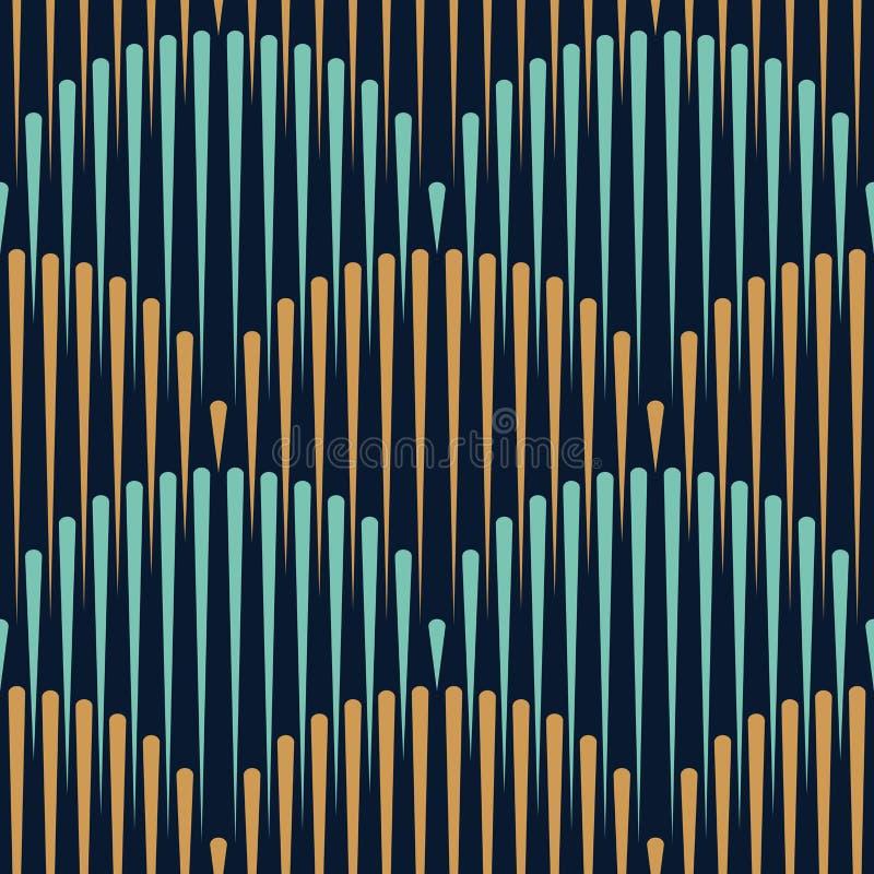 Skrivar den sömlösa modellen ut för den japanska vågen, sömlösa linjer, geometriskt royaltyfri illustrationer