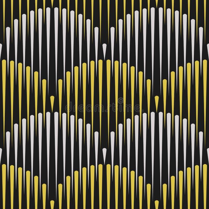 Skrivar den sömlösa modellen ut för den japanska vågen, sömlösa linjer, geometriskt vektor illustrationer