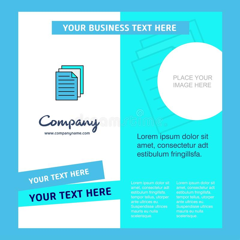 Skrivare Company Brochure Template VektorBusienss mall stock illustrationer