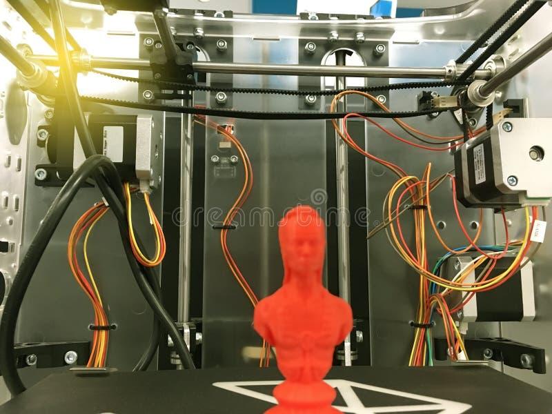 skrivare 3D inom arkivfoto
