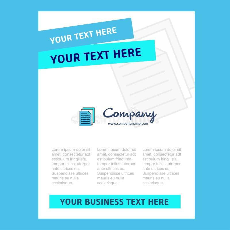 Skrivare Title Page Design för företagsprofilen, årsrapport, presentationer, broschyr, broschyrvektorbakgrund royaltyfri illustrationer