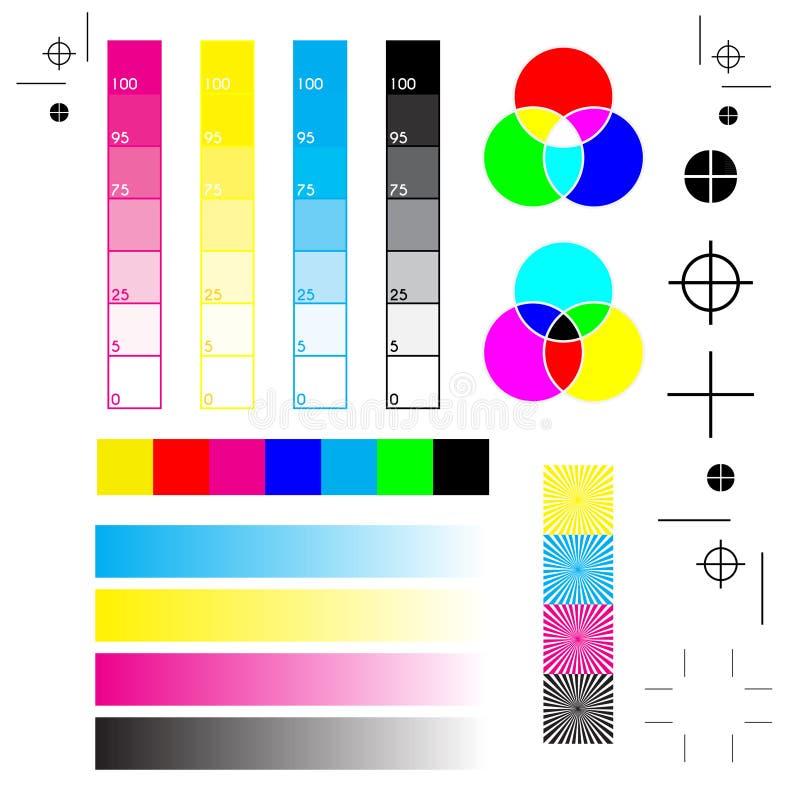 Skrivarfläckar vektor illustrationer