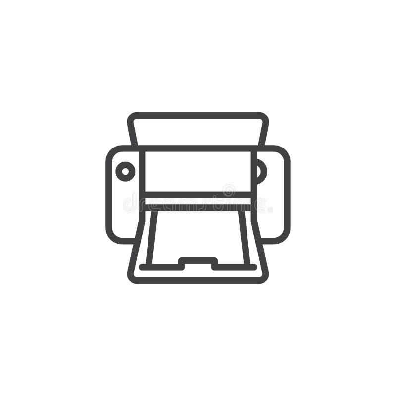 Skrivarlinje symbol stock illustrationer