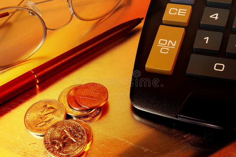 Download Skrivbordobjekt arkivfoto. Bild av framgång, pengar, finans - 36292