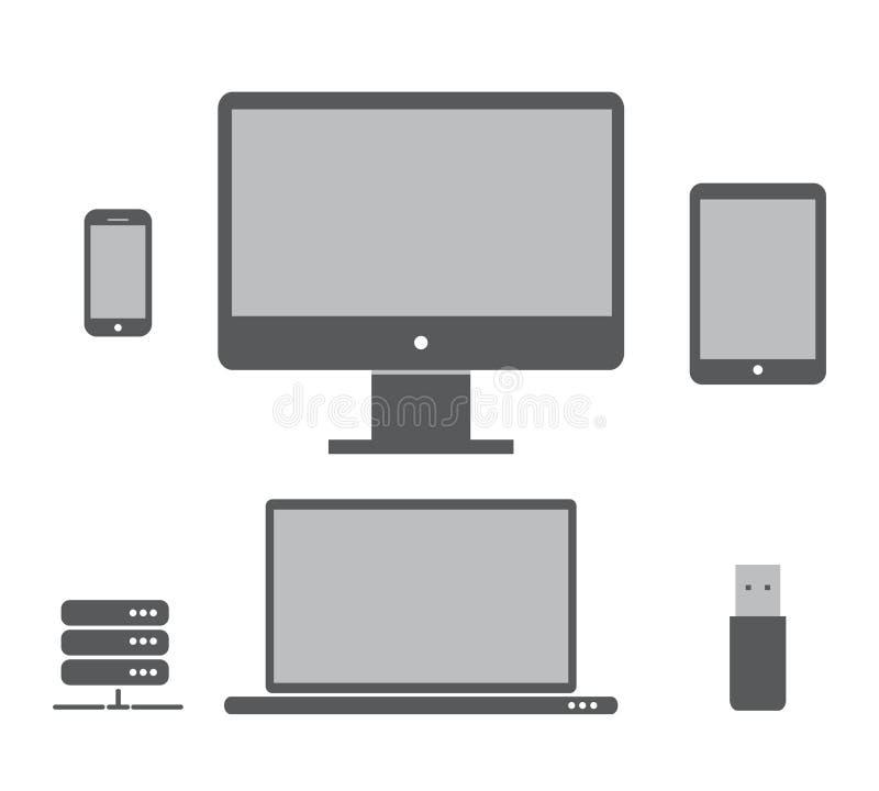 Skrivbords- dator royaltyfri illustrationer