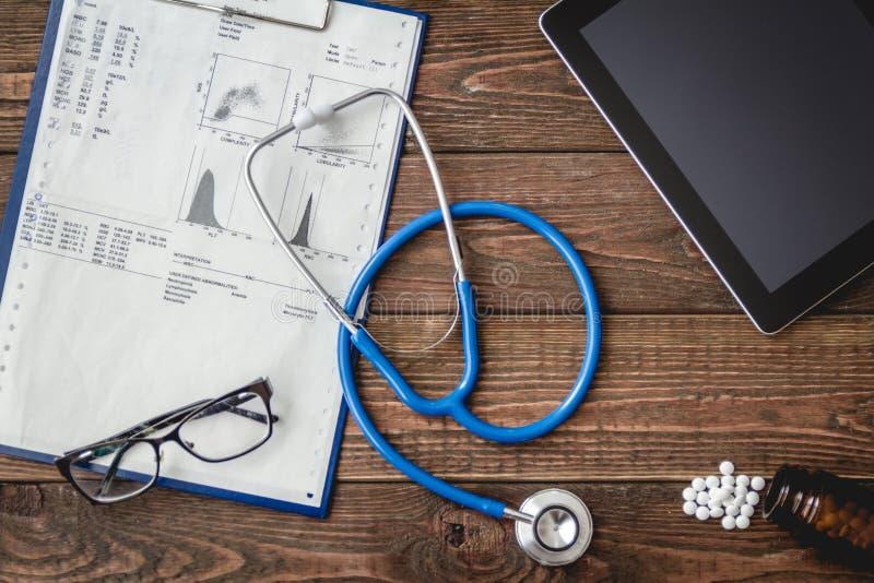 Skrivbords- sikt för doktors` s arkivbilder