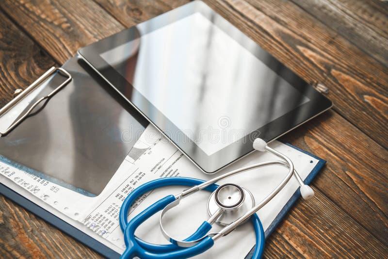Skrivbords- sikt för doktors` s royaltyfri bild