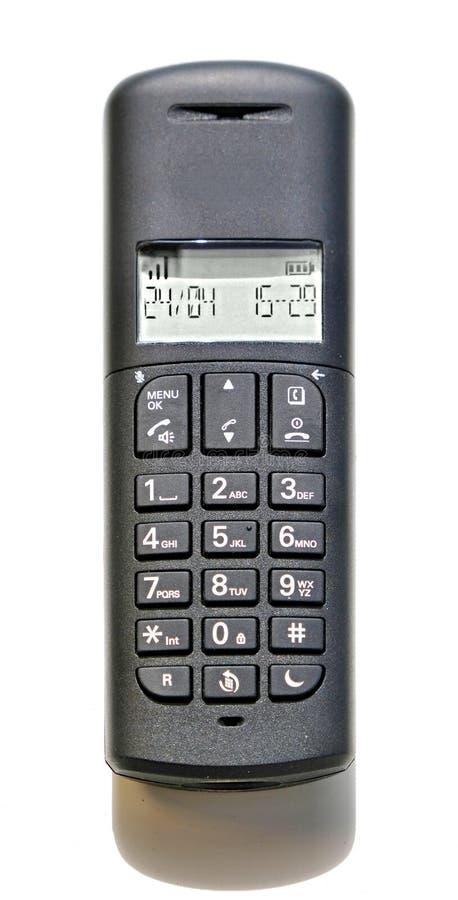 Skrivbords- telefon f?r vanligt kontor som isoleras p? en vit bakgrund royaltyfria foton