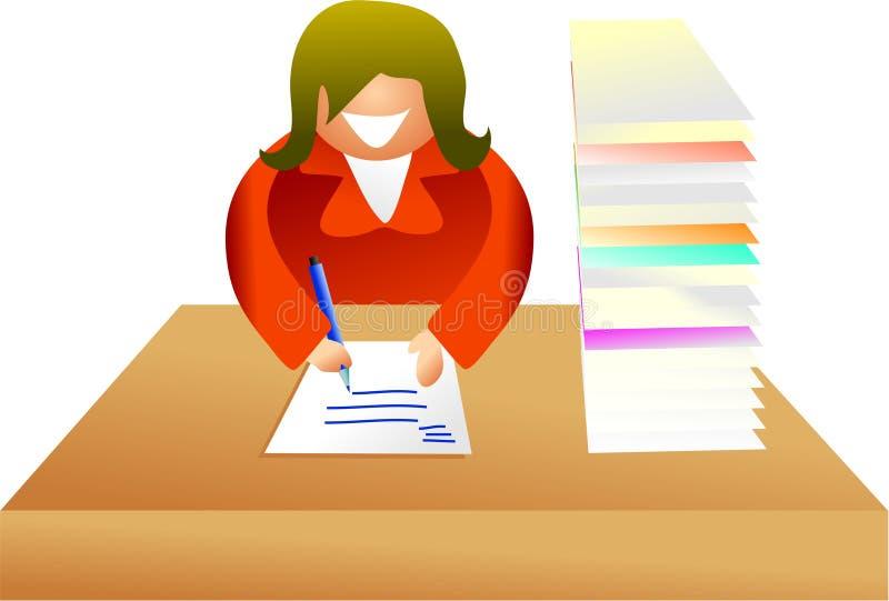 skrivbordsarbete stock illustrationer