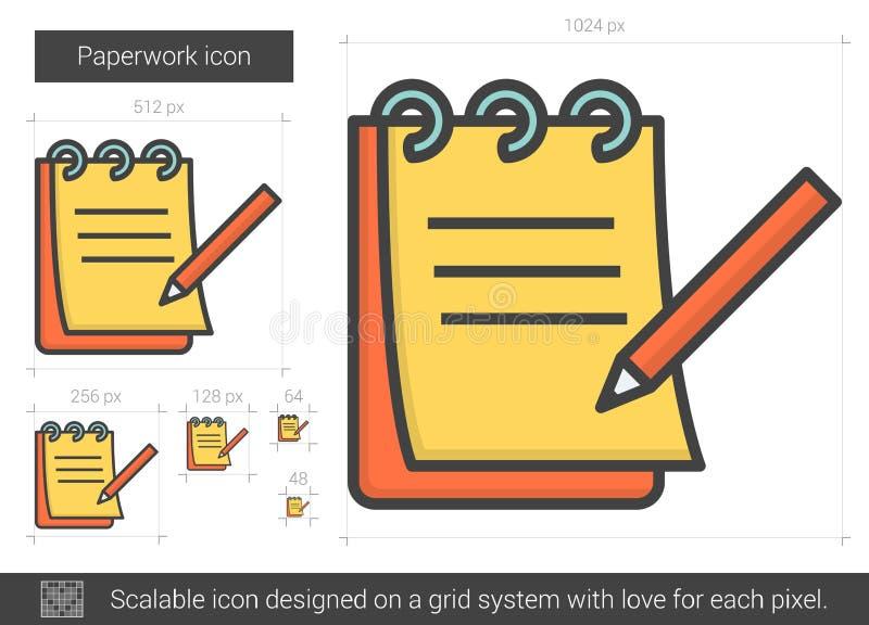 Skrivbordsarbetelinje symbol vektor illustrationer