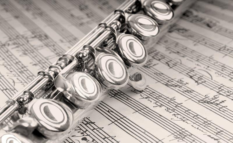 skriven flöjthandmusik arkivbild