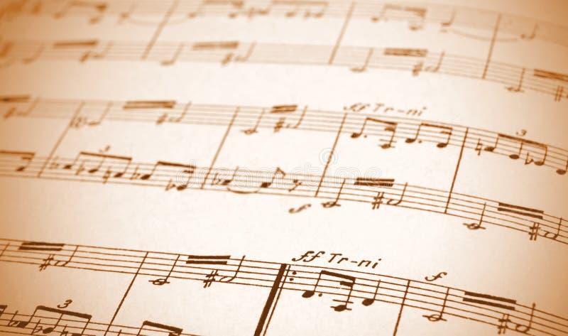 skrivet musikark royaltyfri foto