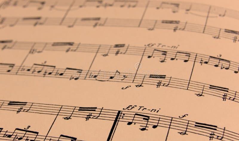 skrivet musikark royaltyfri fotografi