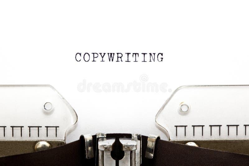 Skrivmaskin Copywriting arkivfoton