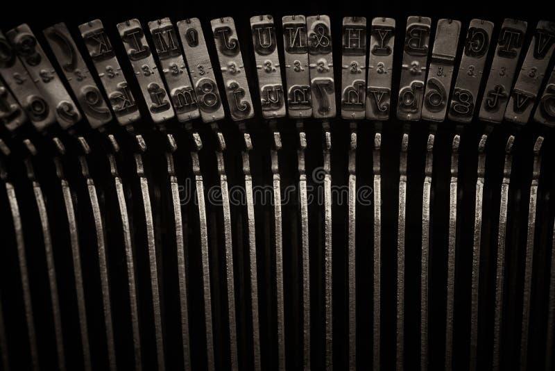 Skrivmaskinen stämm royaltyfria foton