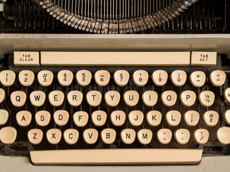 Skrivmaskinen stämm royaltyfria bilder